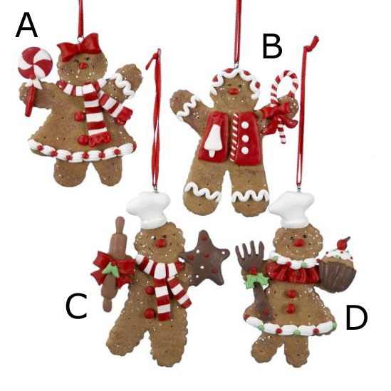 peppermint gingerbread ornaments - Gingerbread Christmas Tree Decorations