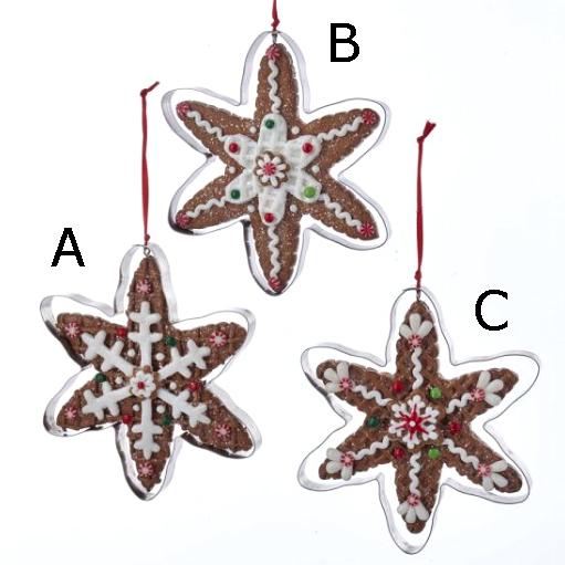 gingerbread snowflake ornaments - Gingerbread Christmas Ornaments