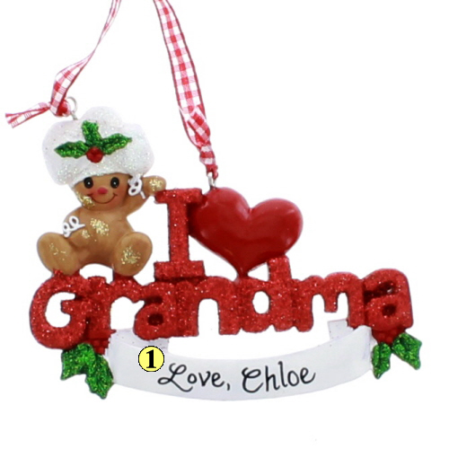 i love grandma ornament