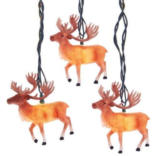 Reindeer with Antlers Light Set - Christmas Lights, Novelty Lights